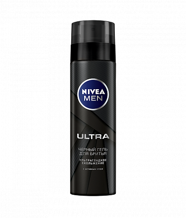 картинка Нивея / Nivea For Men - Гель для бритья Ultra, с активным углем, 200 мл
