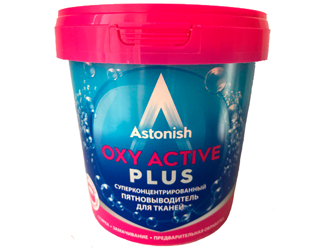 картинка Астониш Окси плюс / Astonish Oxy Plus - Сильнодействующий кислородный пятновыводитель 500 г